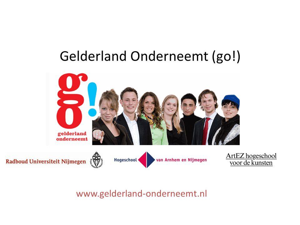 Gelderland Onderneemt (go!) www.gelderland-onderneemt.nl