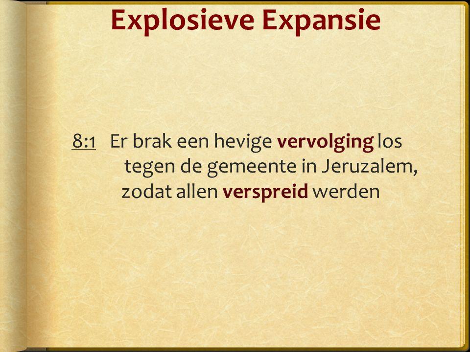 8:1 Er brak een hevige vervolging los tegen de gemeente in Jeruzalem, zodat allen verspreid werden