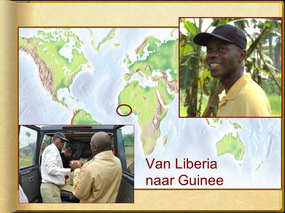 Van Liberia naar Guinee