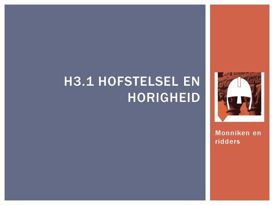 Monniken en ridders H3.1 HOFSTELSEL EN HORIGHEID