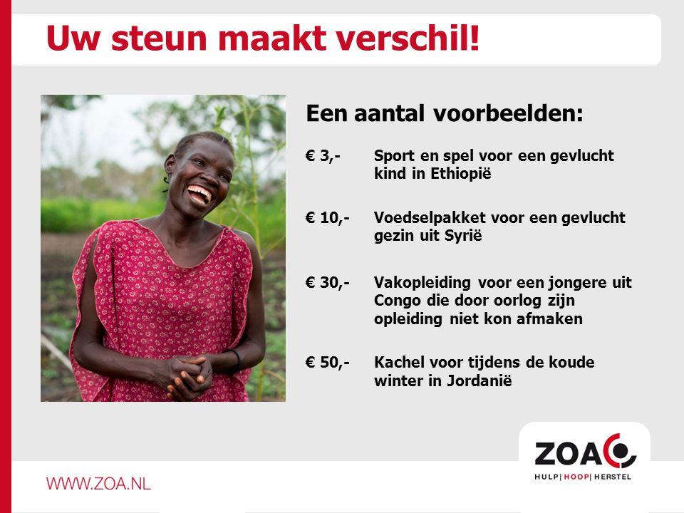 Doet u mee.Help een uurtje mee tijdens de collecteweek van ZOA.