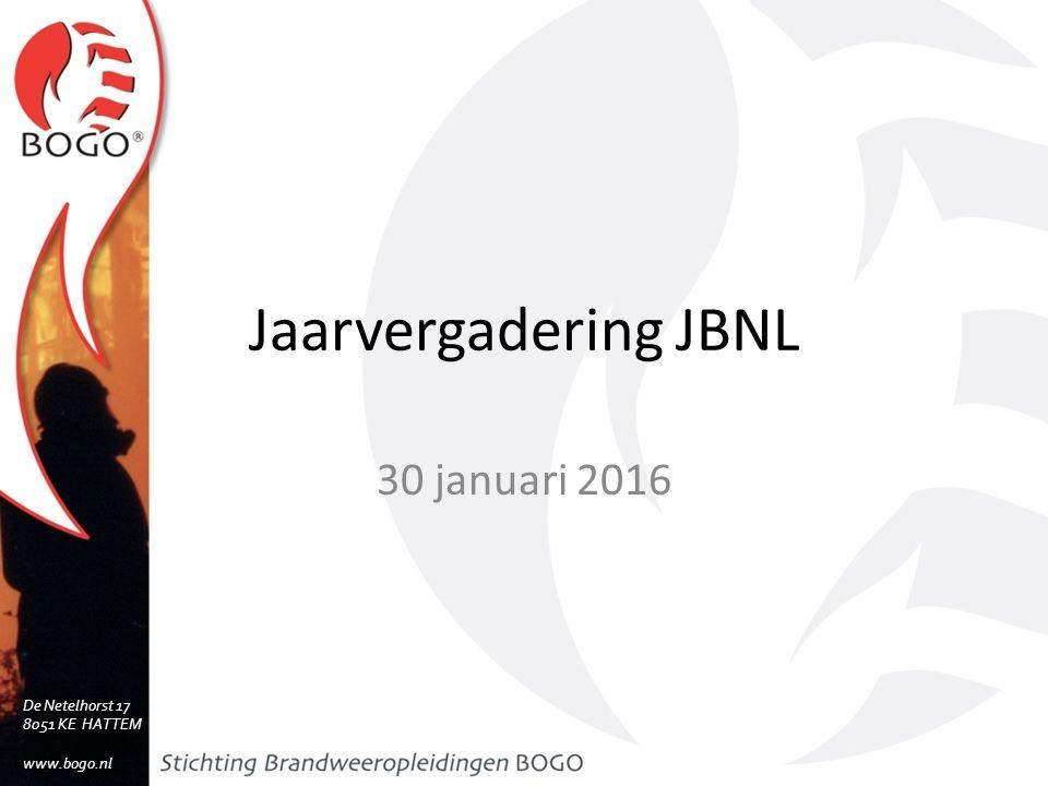 Jaarvergadering JBNL 30 januari 2016 De Netelhorst 17 8051 KE HATTEM www.bogo.nl