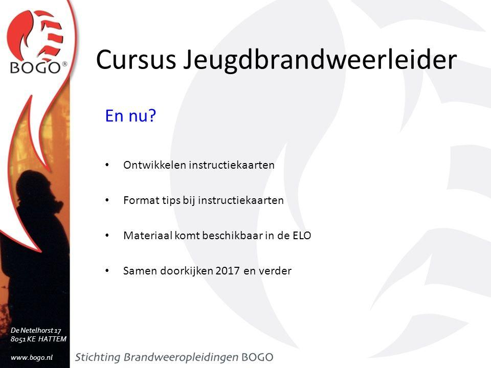 Cursus Jeugdbrandweerleider En nu.