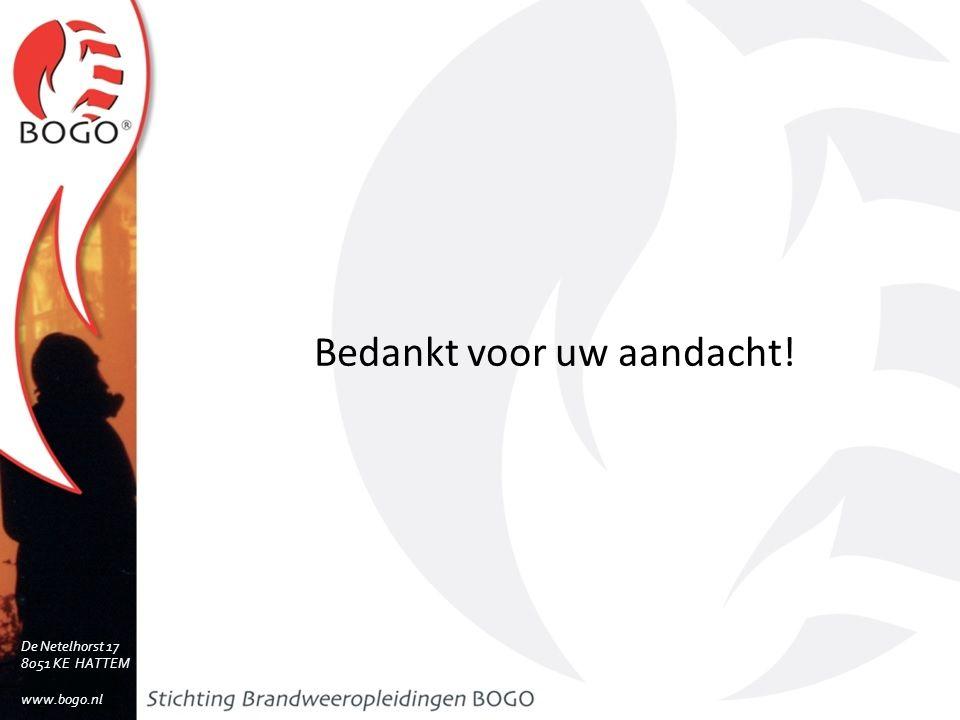 Bedankt voor uw aandacht! De Netelhorst 17 8051 KE HATTEM www.bogo.nl