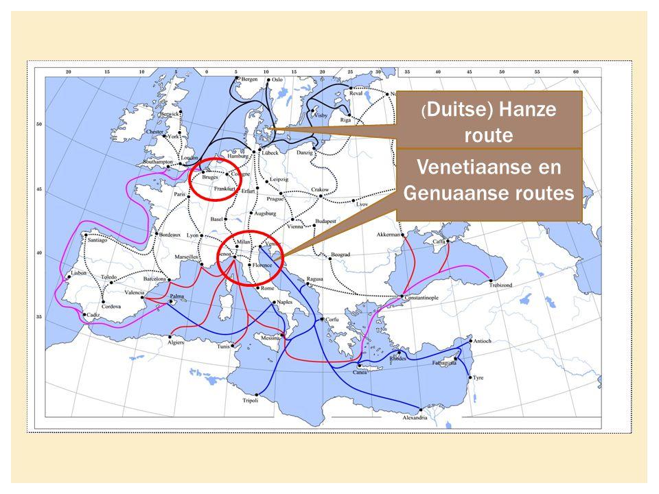 ( Duitse) Hanze route Venetiaanse en Genuaanse routes