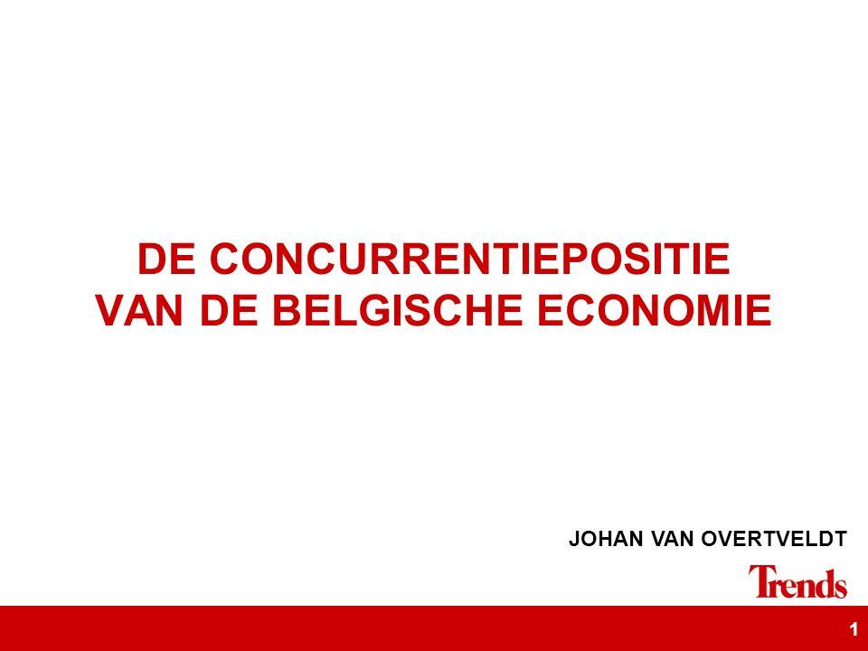 1 DE CONCURRENTIEPOSITIE VAN DE BELGISCHE ECONOMIE JOHAN VAN OVERTVELDT