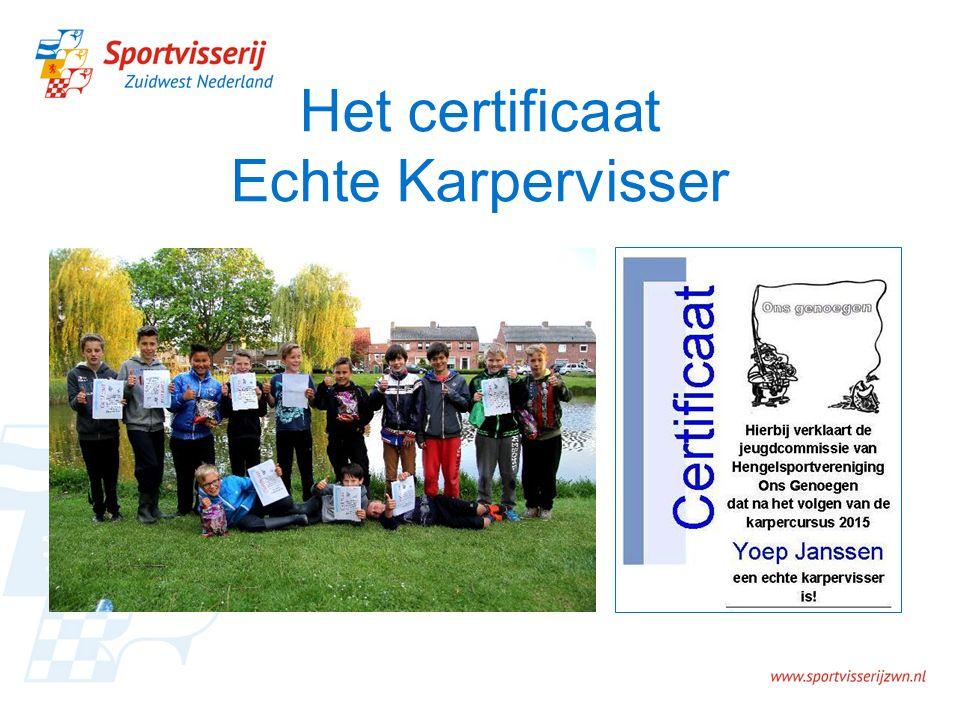 Het certificaat Echte Karpervisser