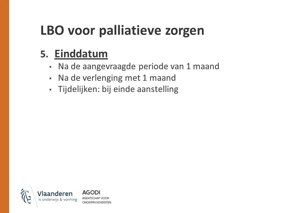 LBO voor palliatieve zorgen 5.