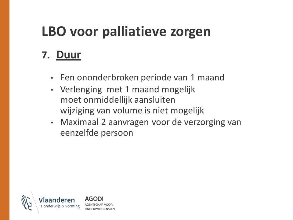 LBO voor palliatieve zorgen 7.