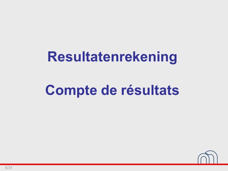 8/31 Resultatenrekening Compte de résultats