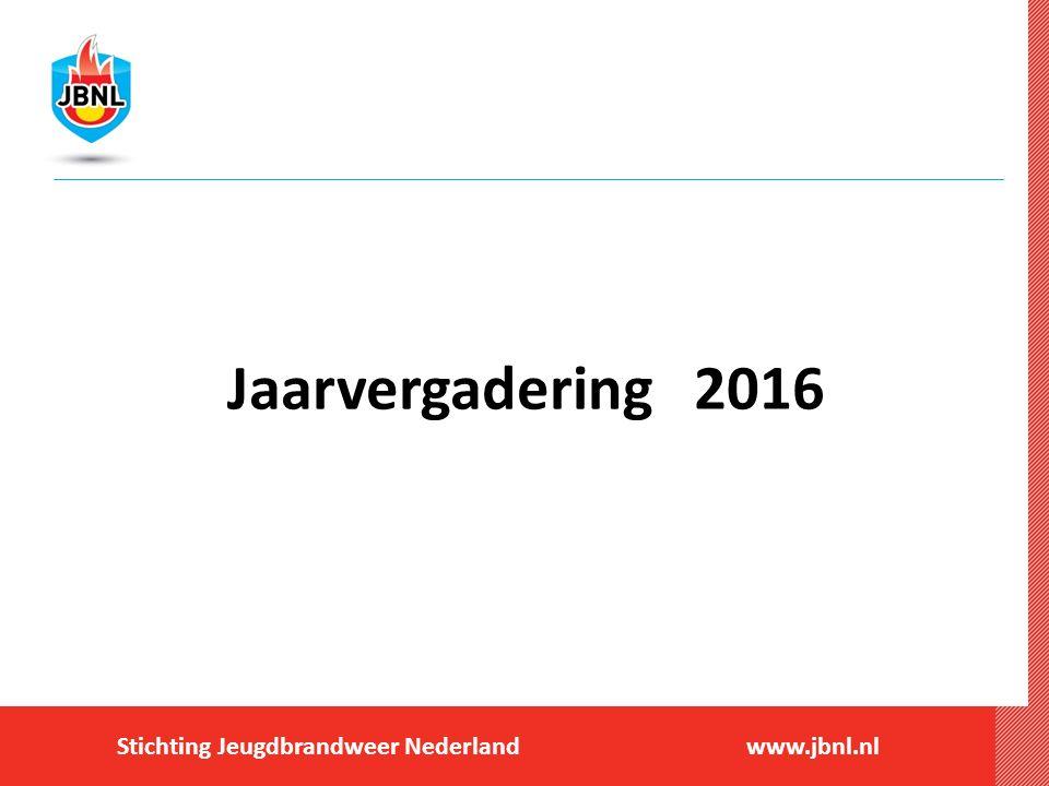 Stichting Jeugdbrandweer Nederlandwww.jbnl.nl Jaarvergadering 2016