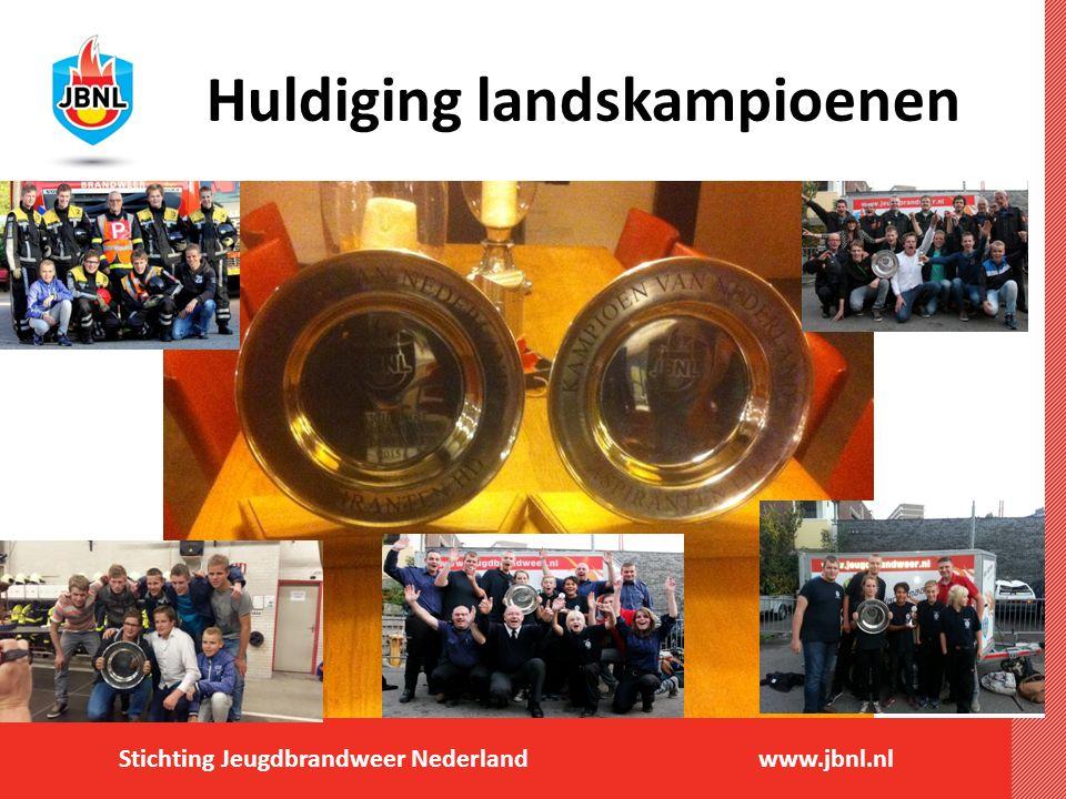 Stichting Jeugdbrandweer Nederlandwww.jbnl.nl Huldiging landskampioenen