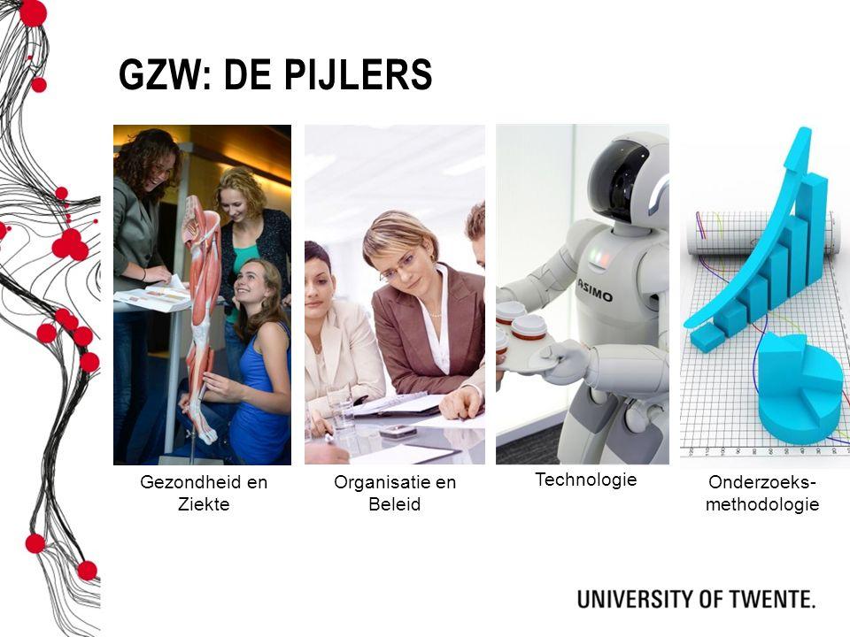 GZW: DE PIJLERS Gezondheid en Ziekte Technologie Onderzoeks- methodologie Organisatie en Beleid