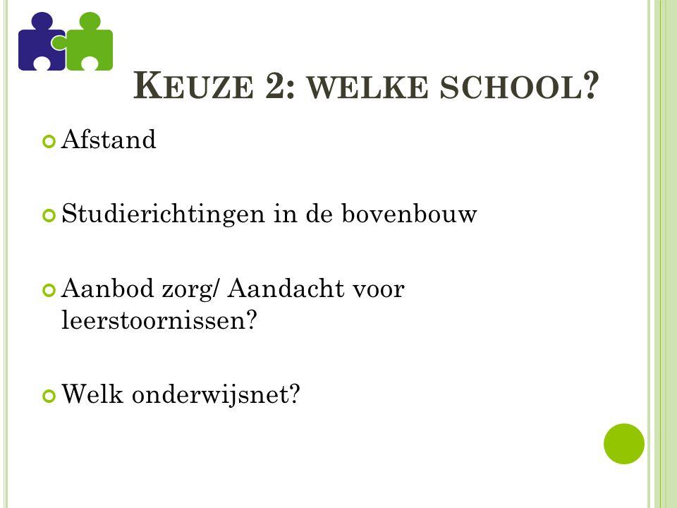 K EUZE 2: WELKE SCHOOL .
