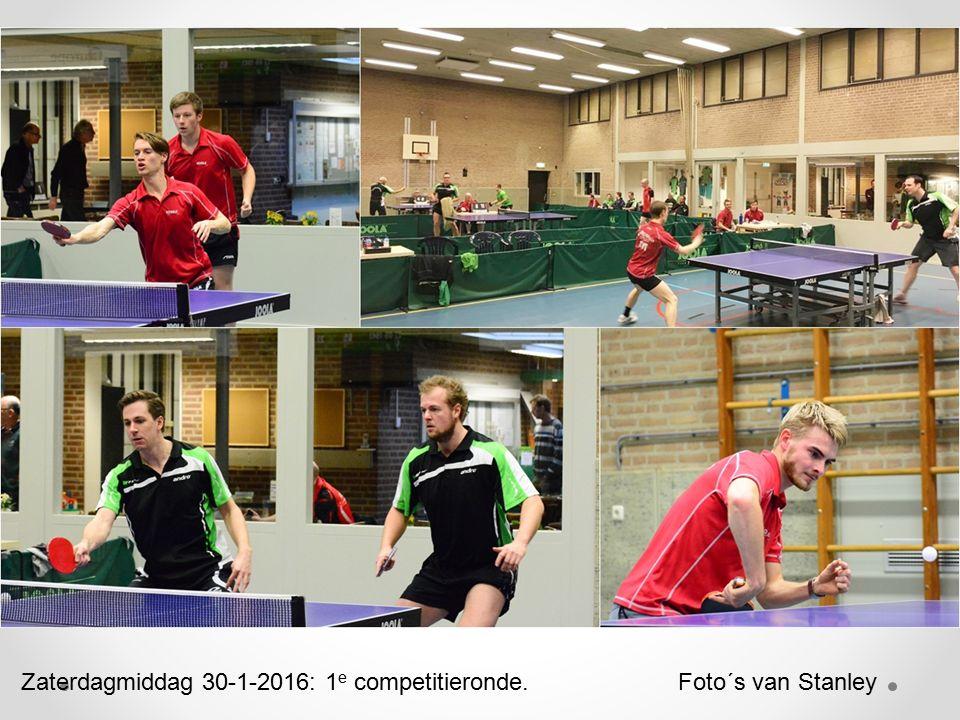 Zaterdagmiddag 30-1-2016: 1 e competitieronde. Foto´s van Stanley