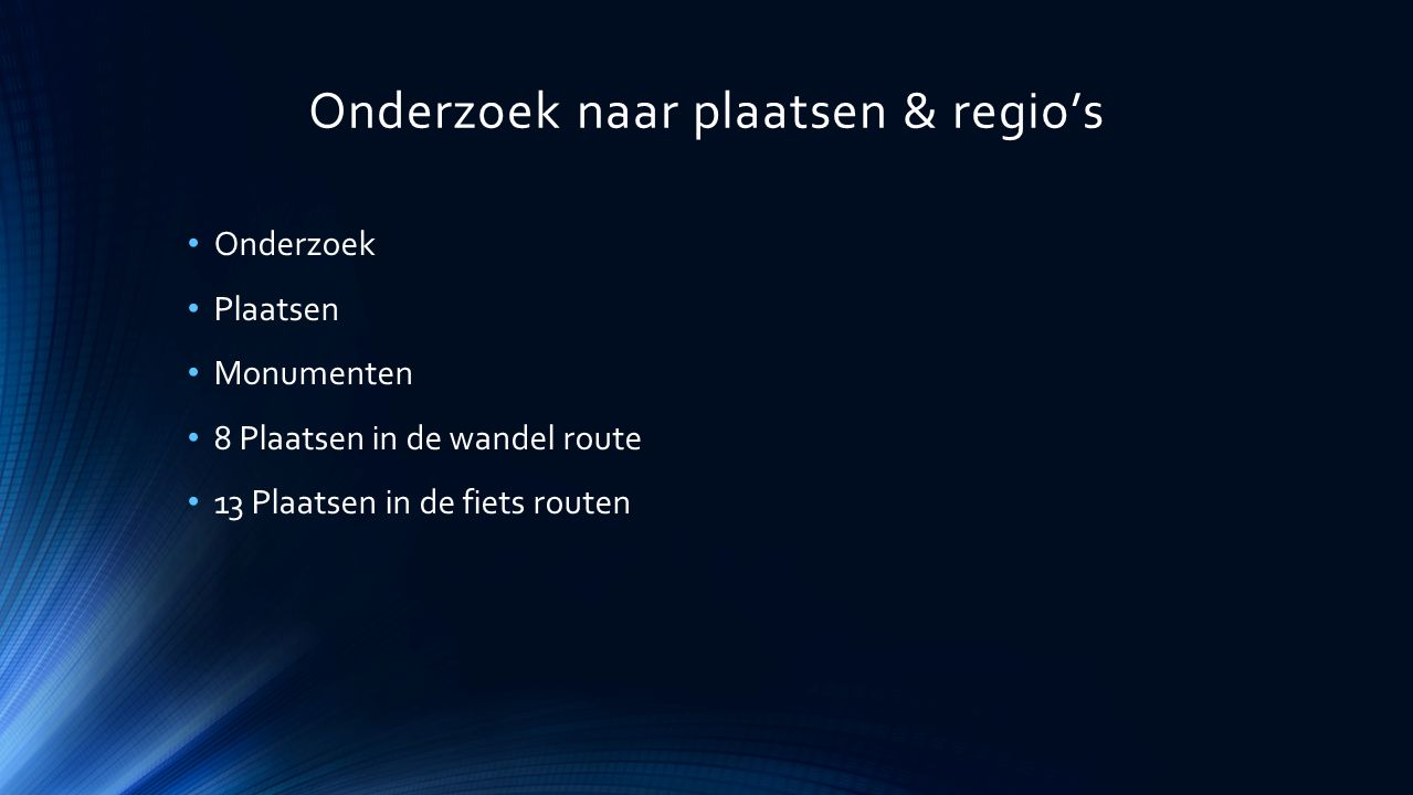 Wandel & Fiets routes Fiets route VVV WO2 Herkerkenning punten: 13 6.50 KM Wandel Route VVV WO2 Herkeninning Punten: 8 4.50 KM