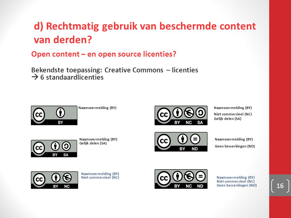 Open content – en open source licenties.