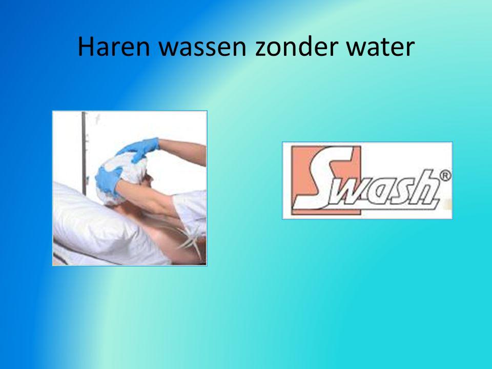 Haren wassen zonder water