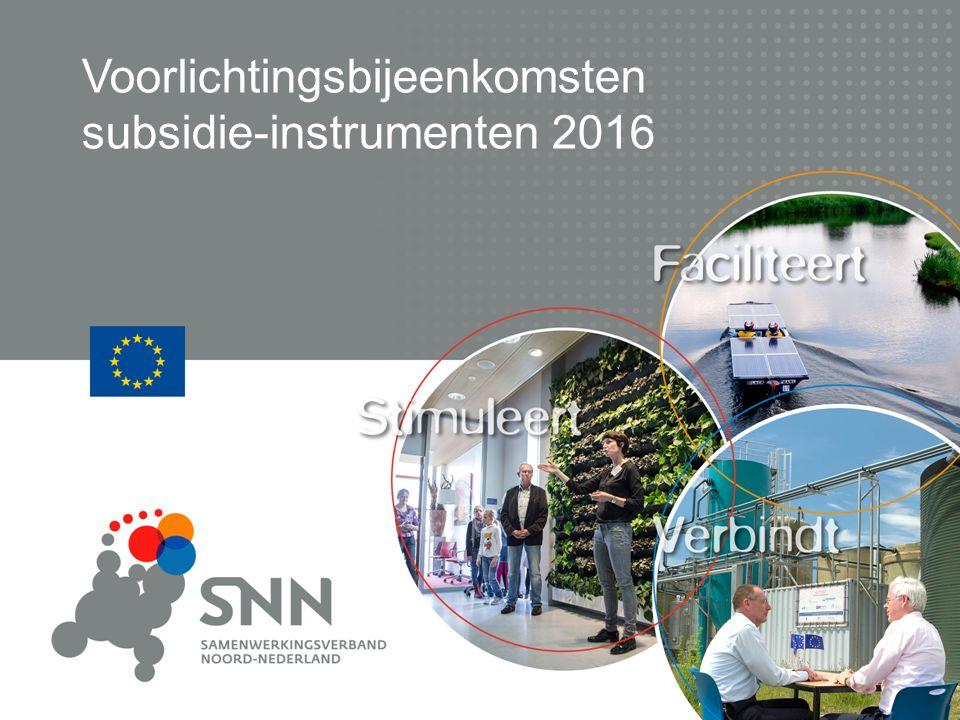 Voorlichtingsbijeenkomsten subsidie-instrumenten 2016
