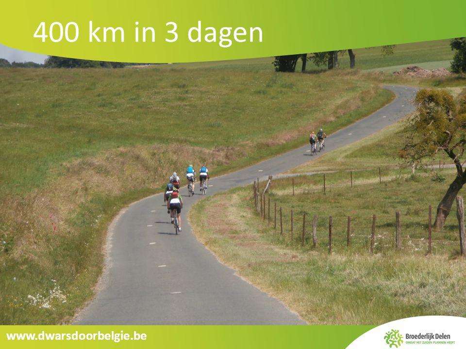 www.dwarsdoorbelgie.be 400 km in 3 dagen