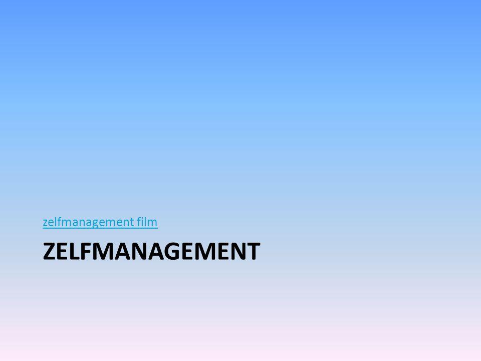 ZELFMANAGEMENT zelfmanagement film