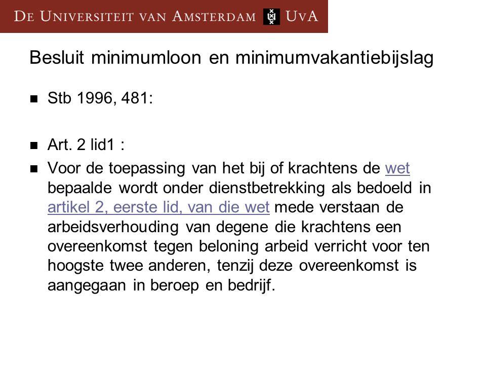 Besluit minimumloon en minimumvakantiebijslag Stb 1996, 481: Art.