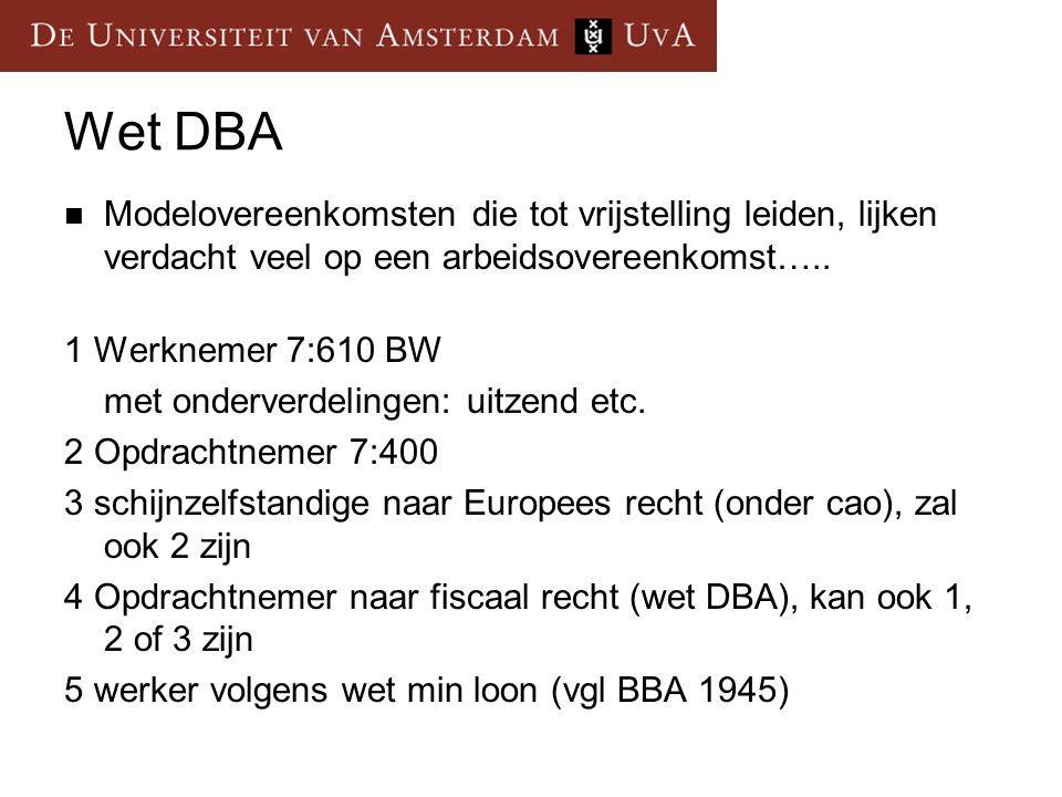 Wet DBA Modelovereenkomsten die tot vrijstelling leiden, lijken verdacht veel op een arbeidsovereenkomst…..
