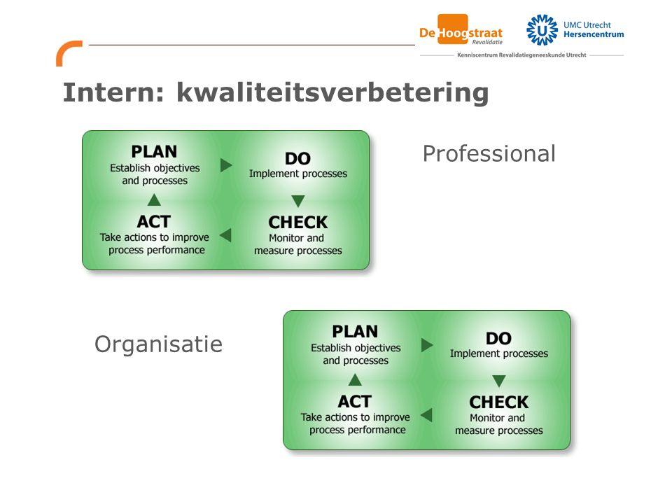 Intern: kwaliteitsverbetering Professional Organisatie