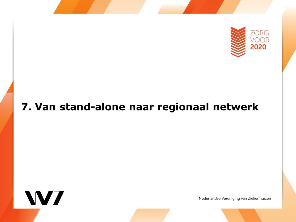 7. Van stand-alone naar regionaal netwerk