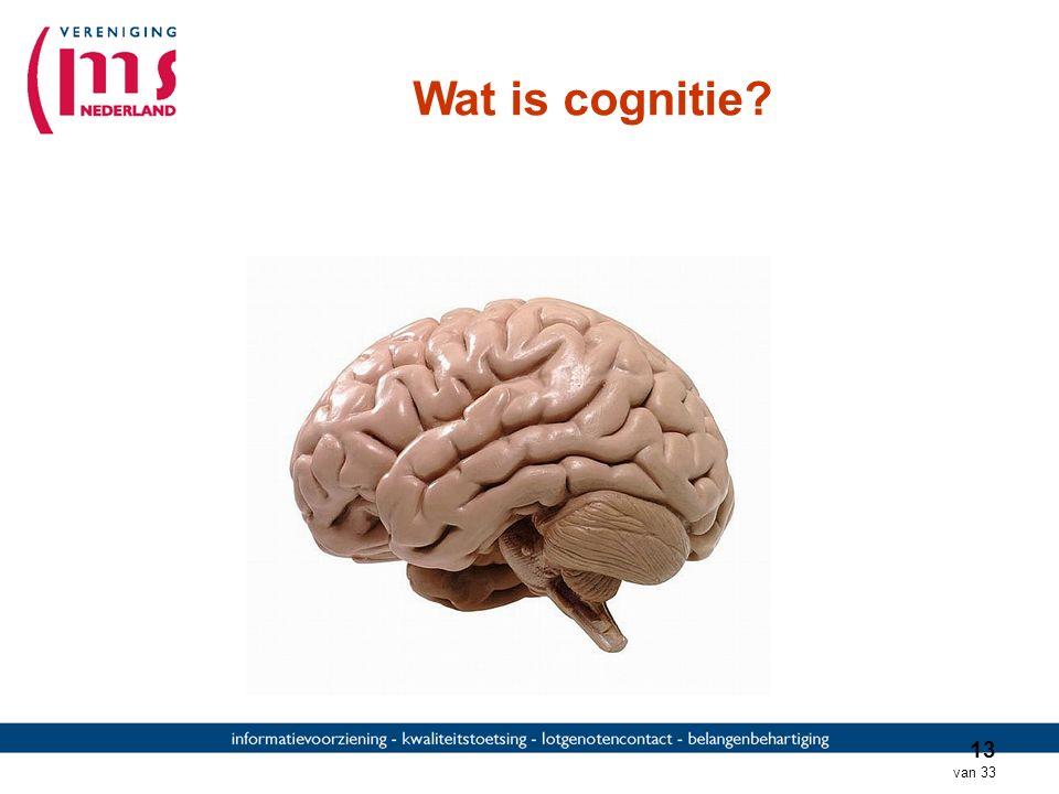12 van 33 Emoties Emotie (afname regulatie) CognitieVermoeidheid