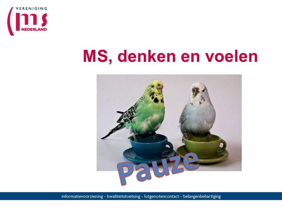 Cognitieve stoornissen Direct door MS: CZS Indirect (secundair) door MS Emoties Vermoeidheid Social gevolgen Psychische veranderingen Karakterverander