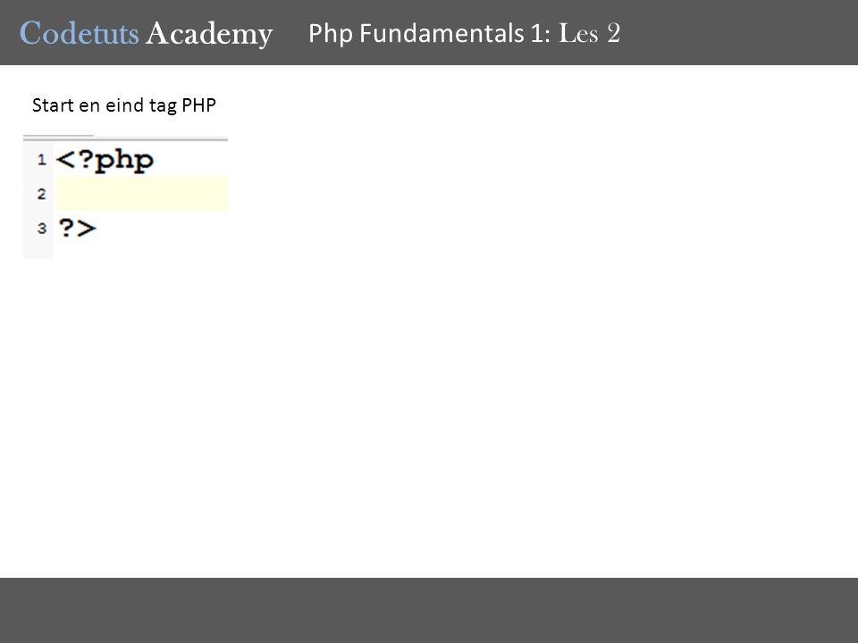 Codetuts Academy Php Fundamentals 1 : Les 2 Waar kan je PHP gebruiken binnen HTML