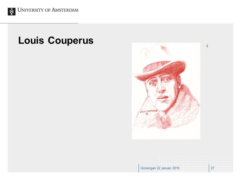 Groningen 22 januari 201627 Louis Couperus 2