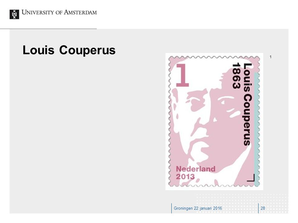 Groningen 22 januari 201628 Louis Couperus 1