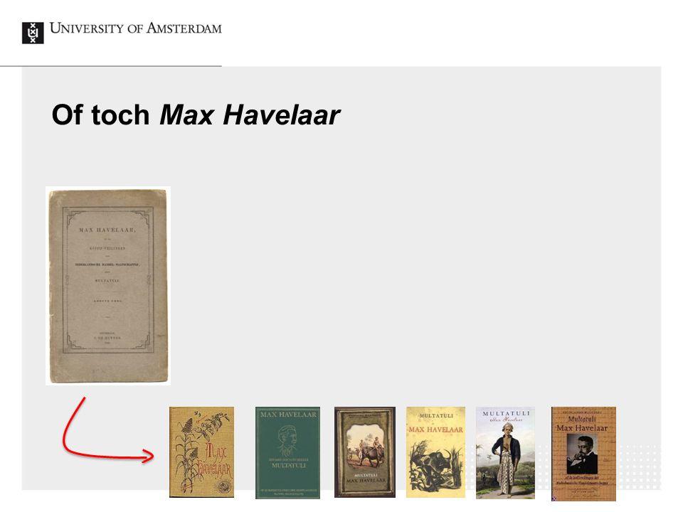 32 Of toch Max Havelaar