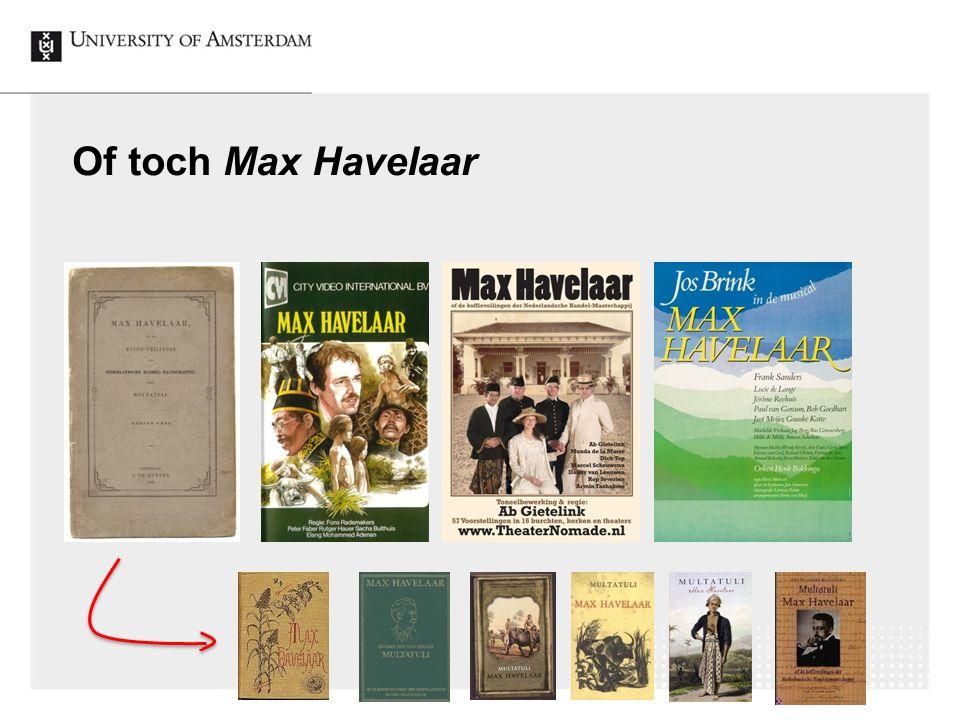 33 Of toch Max Havelaar