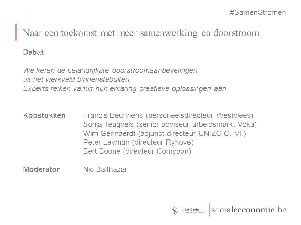 Greet Valck Raadgever sociale economie Kabinet van minister Homans, Vlaams viceminister-president Naar een toekomst met meer samenwerking en doorstroo