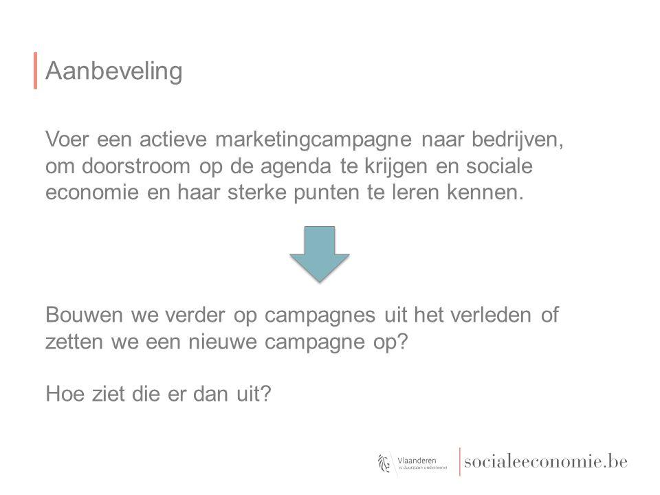Voer een actieve marketingcampagne naar bedrijven, om doorstroom op de agenda te krijgen en sociale economie en haar sterke punten te leren kennen.