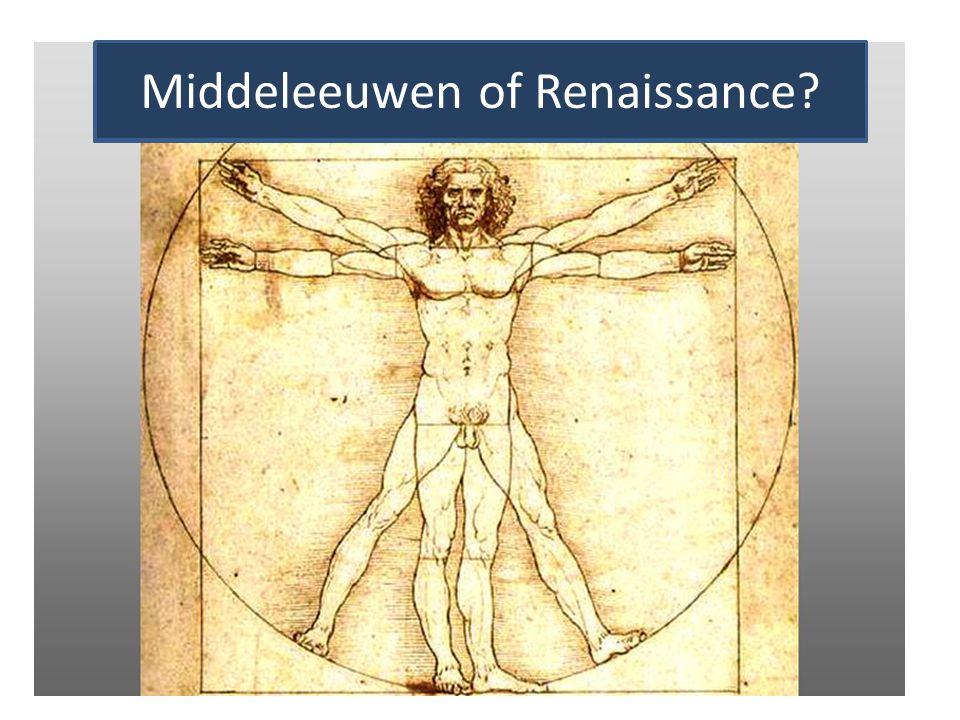 1.3 Uit de kunst Middeleeuwen of Renaissance?