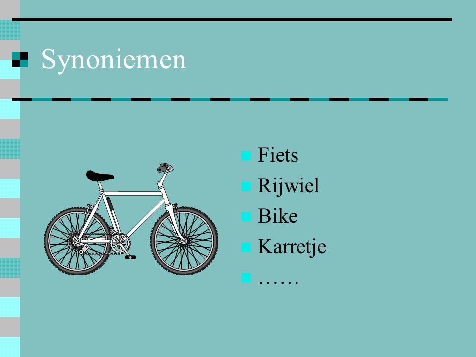 Synoniemen Fiets Rijwiel Bike Karretje ……