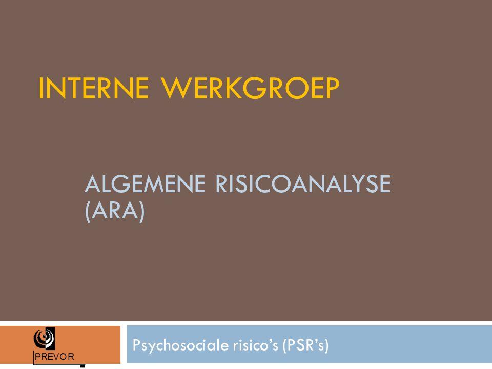 INTERNE WERKGROEP Psychosociale risico's (PSR's) ALGEMENE RISICOANALYSE (ARA)