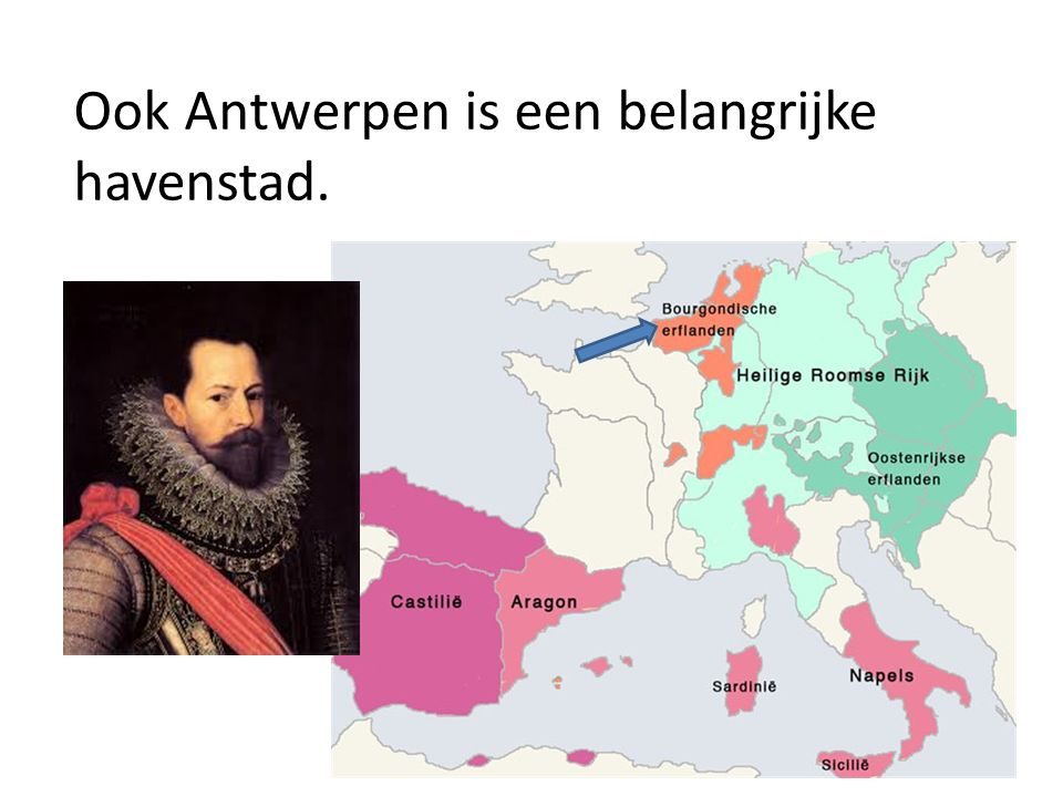Ook Antwerpen is een belangrijke havenstad.