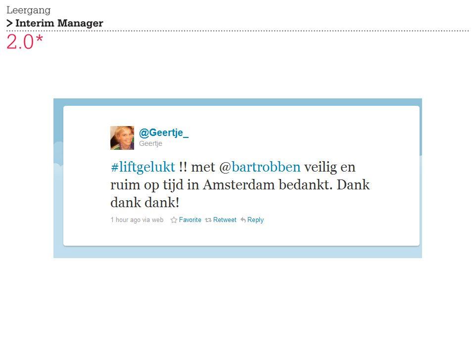 Tweet @Mention Retweet Message (privé) Typen berichten