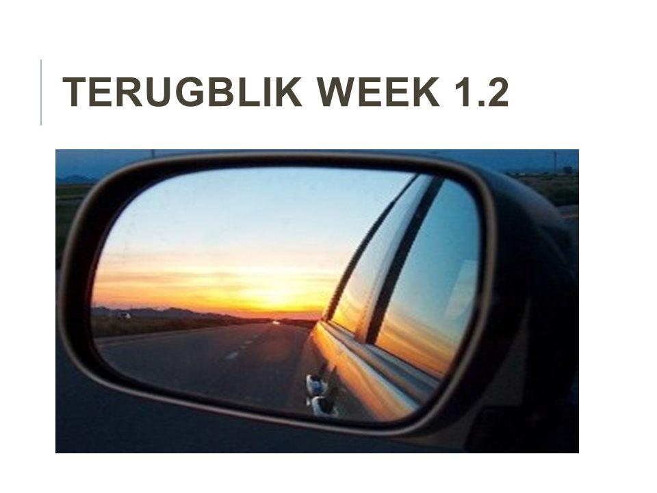 TERUGBLIK WEEK 1.2