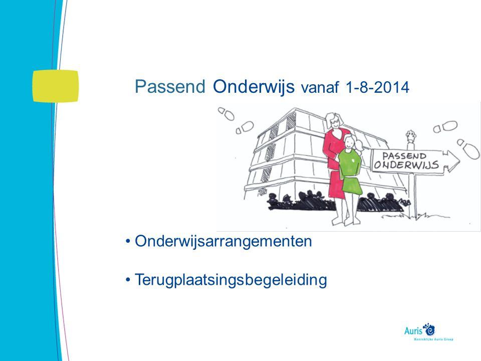 Stand van zaken Onderwijsbehoefte Aanmeldpunt Leiden Arrangementen Overgang ambulante dienstverlening Auris