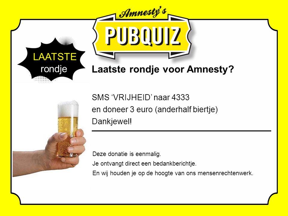 LAATSTE rondje Laatste rondje voor Amnesty.