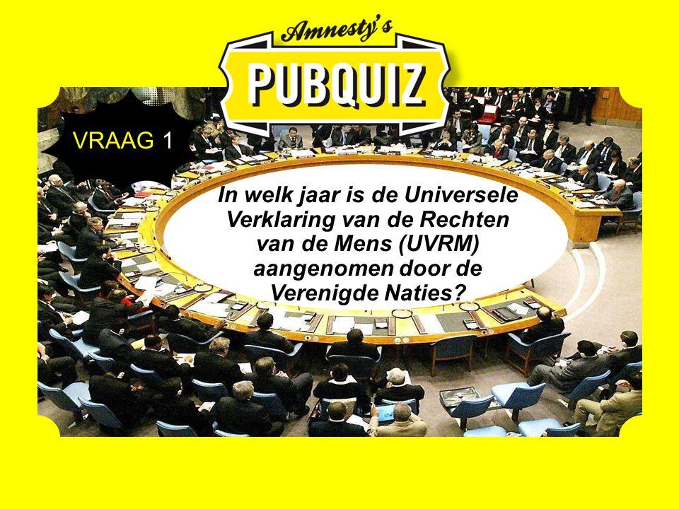 In welk jaar is de Universele Verklaring van de Rechten van de Mens (UVRM) aangenomen door de Verenigde Naties.