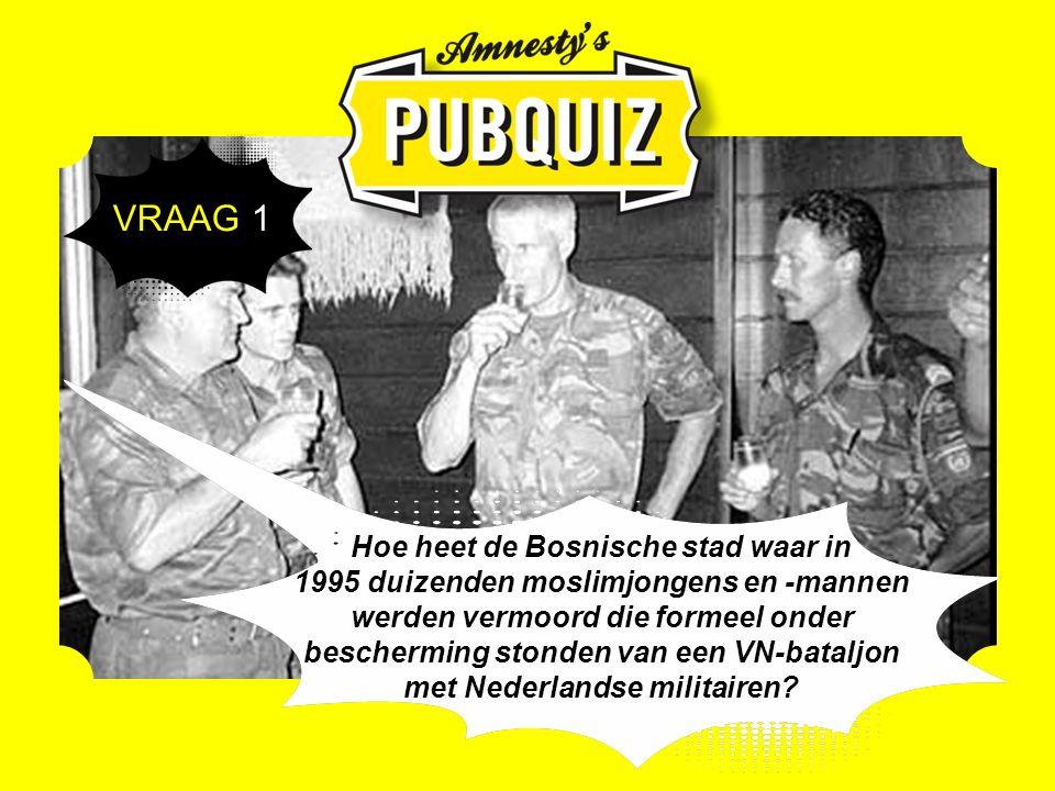 Hoe heet de Bosnische stad waar in 1995 duizenden moslimjongens en -mannen werden vermoord die formeel onder bescherming stonden van een VN-bataljon met Nederlandse militairen.