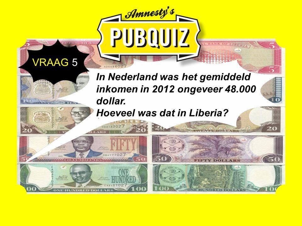 In Nederland was het gemiddeld inkomen in 2012 ongeveer 48.000 dollar.