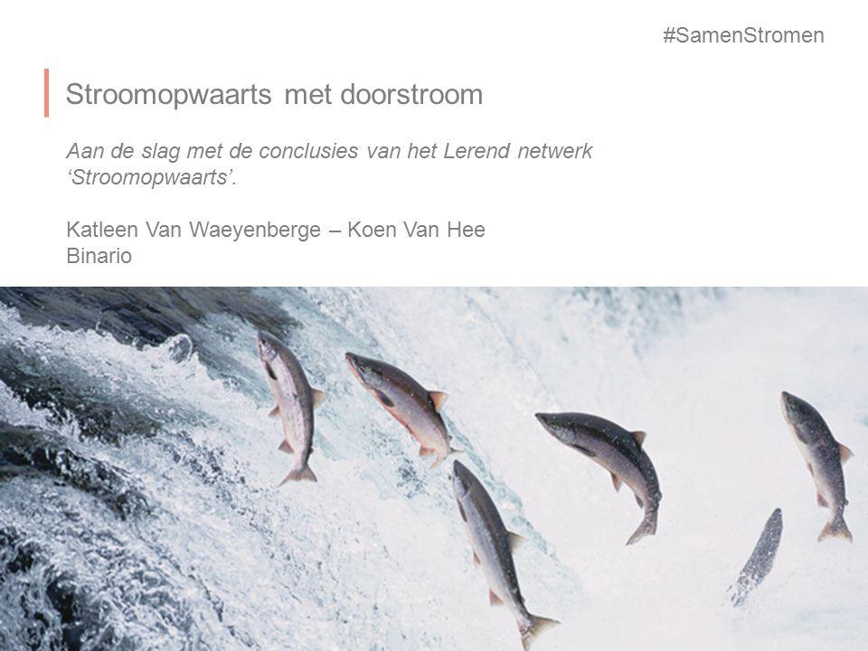 Stroomopwaarts met doorstroom Aan de slag met de conclusies van het Lerend netwerk 'Stroomopwaarts'. Katleen Van Waeyenberge – Koen Van Hee Binario #S